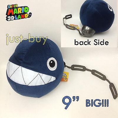 "New Super Mario Bros.2 Plush Chain Chomp Soft Toy Stuffed Animal Doll 9"" SO BIG!"