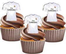 12 X REAL MADRID FC FOOTBALL SHIRT Cake Topper Decorazioni Commestibili Compleanno