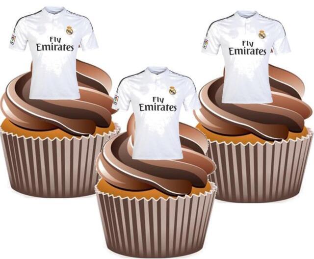 Everton 16cm cake topper avec 6 5cm cupcake toppers sur tranche papier