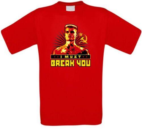 Ivan Drago Dolph Lundgren Udssr Cult T-Shirt all Sizes New