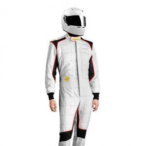 MOMO Racing Corsa Evo Race Suit, SFI 3.2A/5, 3-layer, white, size 48