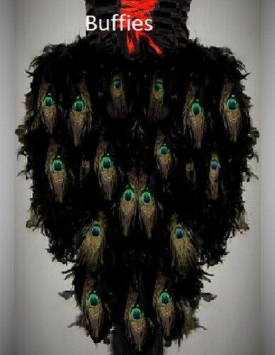 Ladies Long Peacock Feather Tail Gothic Steampunk Burlesque Bustle plus size