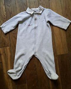 61de1b47029da Dors bien grenouillère pyjama Bleu Clair 12 Mois PETIT BATEAU Bon ...