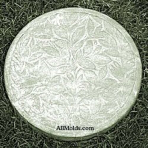 Round Leaf concrete cement stepping stone mold