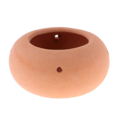 1//12 Puppenhaus Miniatur Möbel braun Keramik Blumen Topf Garten Dekor
