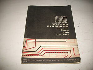 WIRING DIAGRAM MANUAL 1961 FORD MERCURY LINCOLN TRUCKS ...