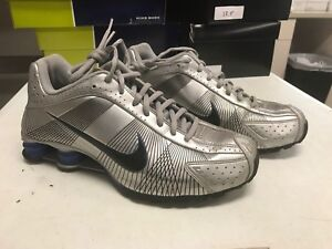 ffc0412072c9 Nike Shox R4 Black Metallic Silver Blue Gold Shoes Nike Air Jordan ...