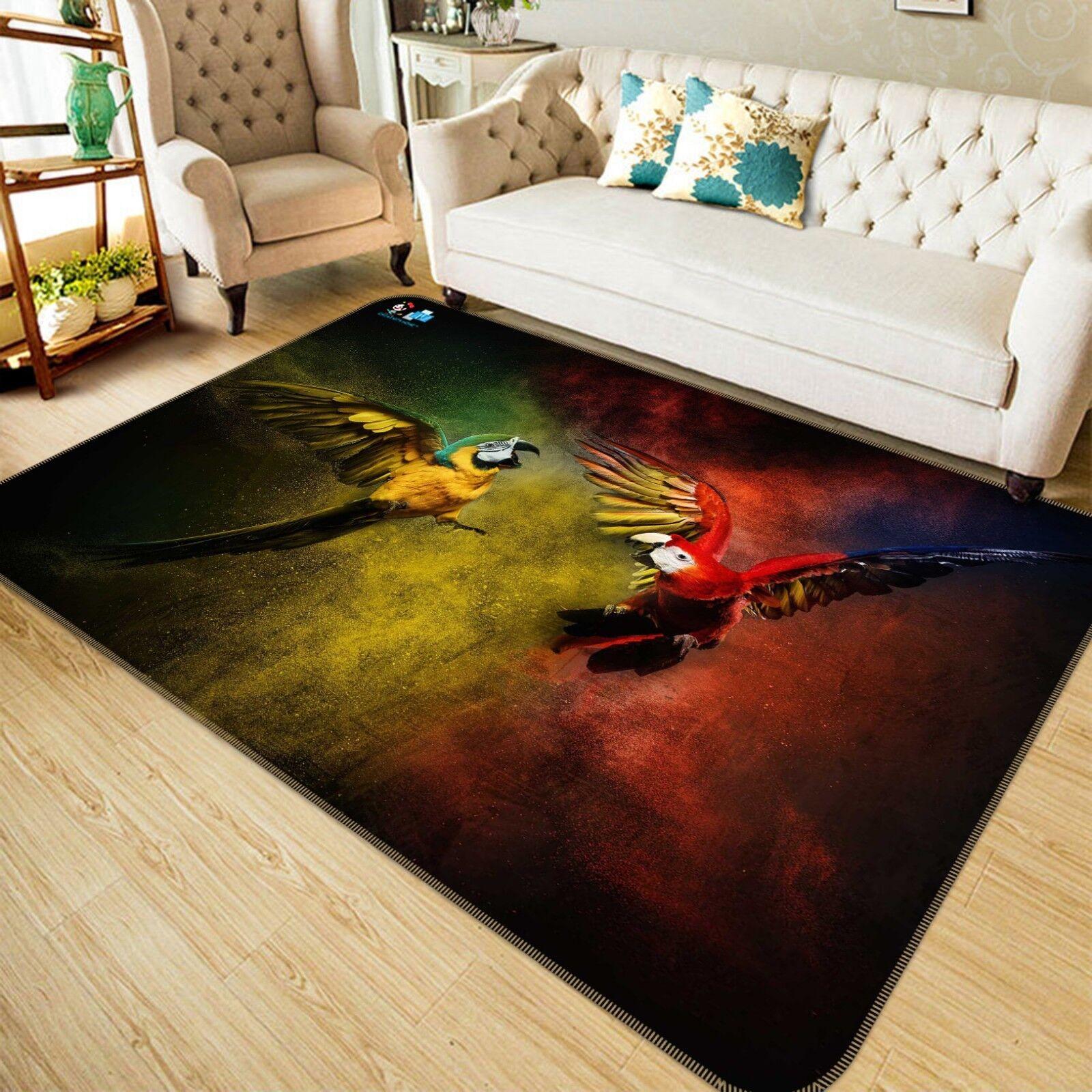 3D Parrosso Painted 898 Non Slip Rug Mat Room Mat Quality Elegant Photo Carpet US