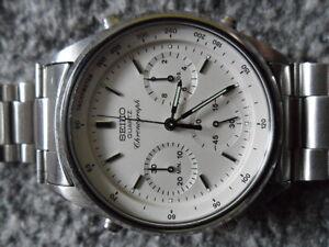 Rare-Vintage-Seiko-7A28-7020-Quartz-Chronograph-Watch-James-Bond