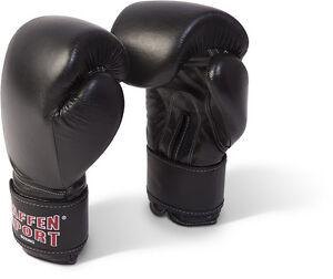 Paffen-Sport-Kibo-Fight-Boxhandschuhe-Leder-Schwarz-10-16Oz-Sparring-Train