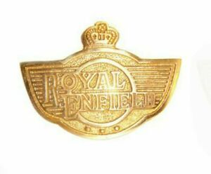 AUTOMOBILE BRASS REAR MUDGUARD DECAL BADGE SUITABLE FOR ROYAL ENFIELD