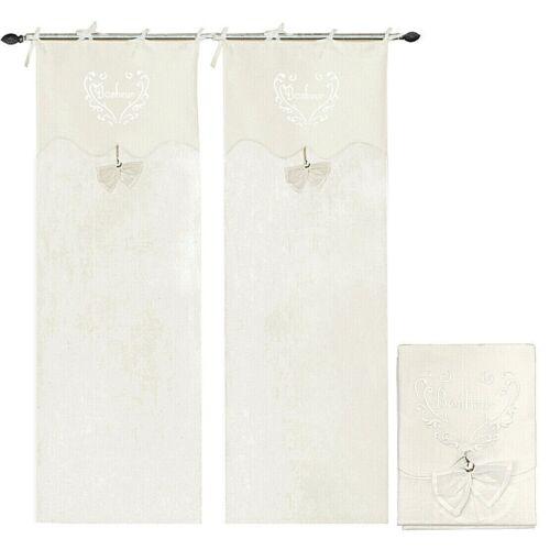 Tende finestre portafinestra coppia 2pz più misure tessuto lino casa shabby chic