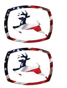 "John Deere LOGO Superimposed American USA  Flag  Decal Sticker 2.0/"" x 2.5/"" p154"