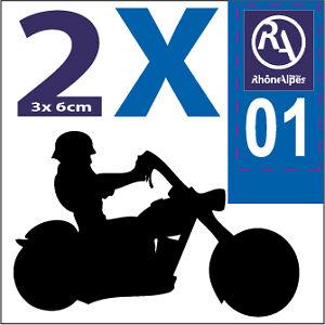 SAFIRMES 2 Stickers Autocollant Style Plaque Moto d/épartement 25