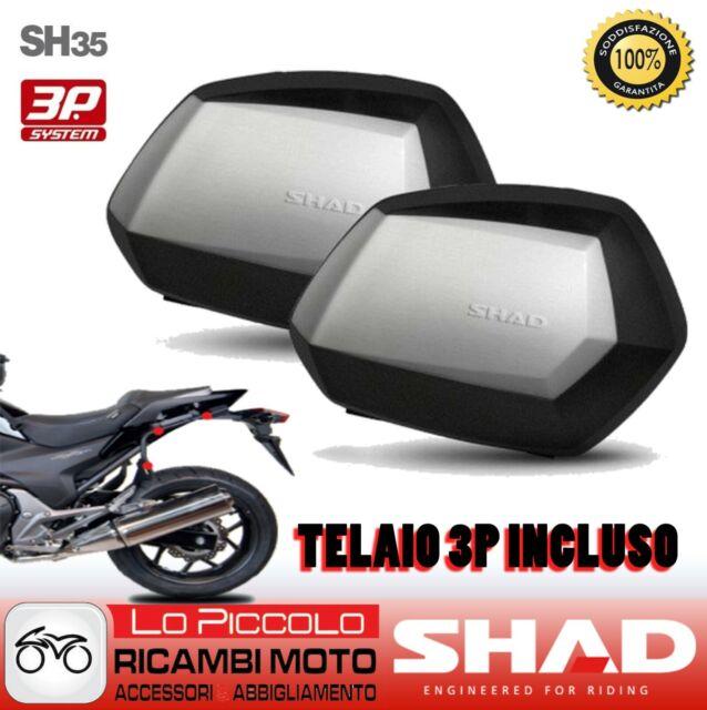 Ducati Multistrada 1200 2016 Shad Maletas Cover Aluminio SH35 + Soporte 3P