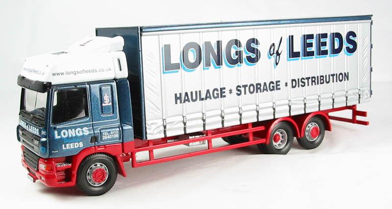 Corgi CC13613 rigids DAF CF Curtainside J. Long & Sons Ltd Leeds. (cama)