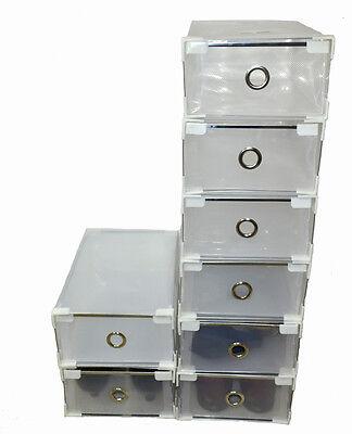 12x 6x Schuhboxen Aufbewahrungsbox Faltbox Schuhkästen