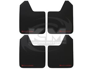 Set-of-4-Rally-Armor-Universal-Basic-Mud-Flaps-Guards-w-Red-Logo