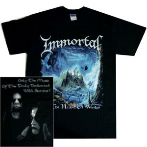 Immortal-At-The-Heart-Of-Winter-Shirt-S-M-L-XL-Black-Metal-Official-T-Shirt-New