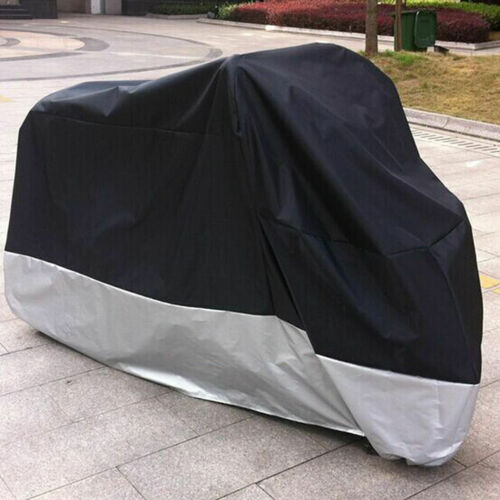 Silver XXXXL UV Rain Protector Dust Scooter Motorcycle Cover Waterproof Black
