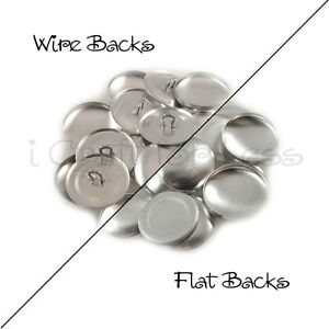 Cover Buttons / Covered Buttons - Flat Back / Wire Back - Choose Size & Quantity