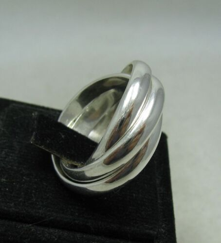 STERLING SILVER RING SOLID 925 TRIPLE BAND 2.5mm SIZE 4-14 NEW R001158