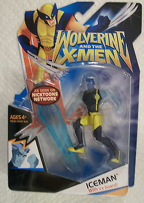 Hasbro Marvel WOLVERINE and the X-MEN Costume Variant ICEMAN with ICE BOARD