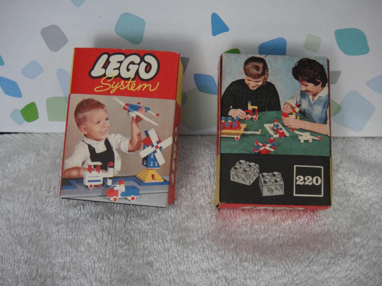 LEGO System Set Nr. 220 2x + OVP vermutlich 4er Stein druchsichtig NEU