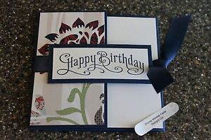 Stampin Up Happy Birthday Homemade Greeting Card Pocketful of posies 6748
