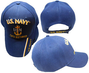 U.S Navy SCPO Retired USN Navy Blue Embroidered 3D Cap Hat CAP551B TOPW