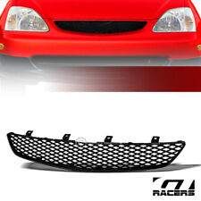 For 2002 2005 Honda Civic Si Ep3 Glossy Blk Tr Mesh Front Hood Bumper Grille Abs Fits 2004 Honda Civic