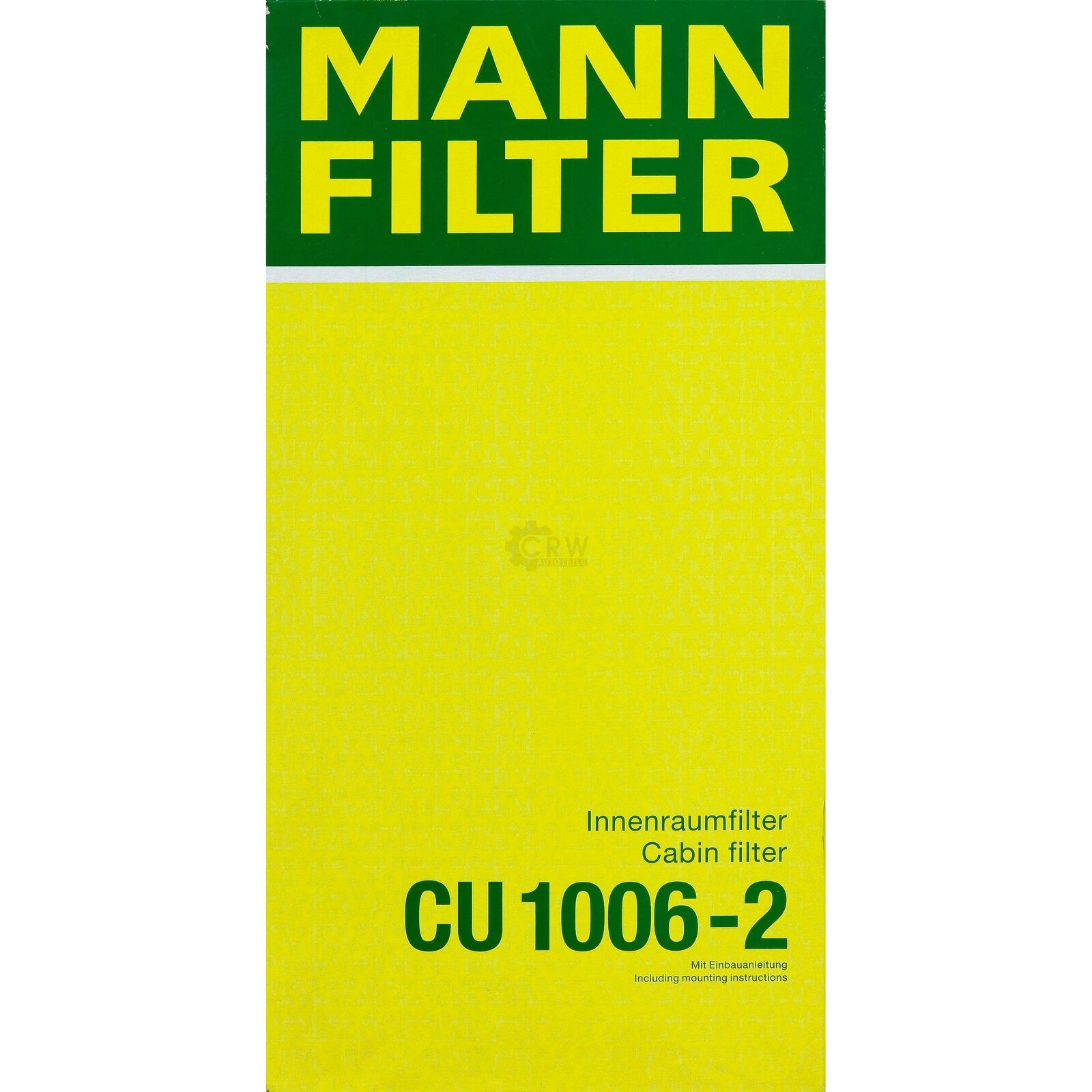 Mann Filter CU3318 INNENRAUMFILTERELEMENT    RG 3