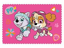 EXTRA LARGE - New Girls Paw Patrol Super Soft Pink Fleece Blanket Sofa Bed Throw