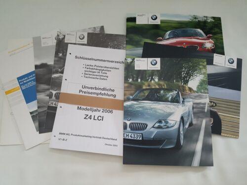 BMW z4 Roadster e85 Facelift Catalogue Brochure TARIF presse Classeur 2006
