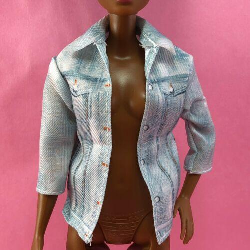 Barbie JEAN JACKET Robotics Engineer Distressed Denim Look Printed Pockets W39