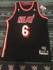 LeBron James #6 Miami Heat NBA Hardwood Classics Jersey Adidas XL  New With Tags