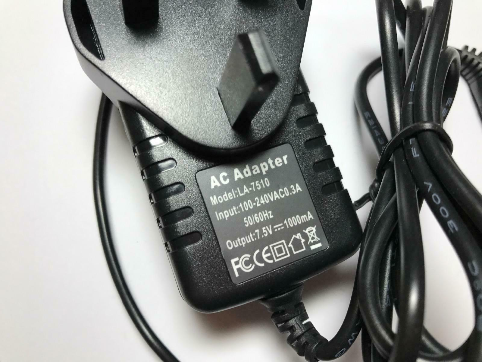 7.5V AC-DC Power Adaptor for Casio VL-Tone VL-1 Vintage Synth Explorer