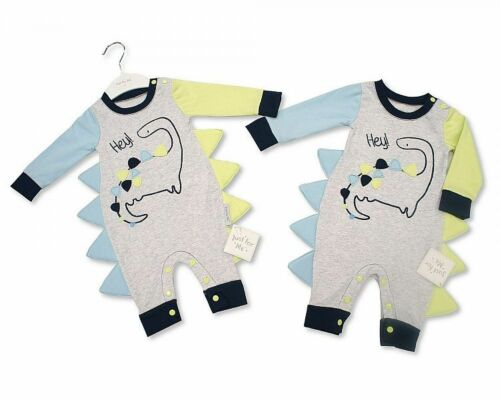 Dino NB-6 MONTHS Brand New Baby Boys Short//long Sleeve Cotton Romper