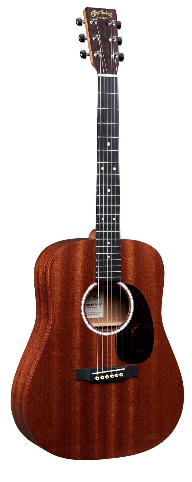 Martin DJR-10E Acoustic Electric Guitar Satin Natural Finish w  Soft Case Sapele