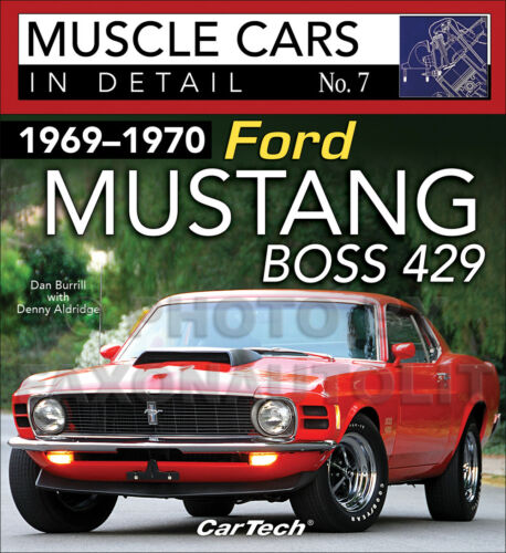 1969-1970 Ford Mustang Boss 429 Pictorial History Book Muscle Cars Detail Option