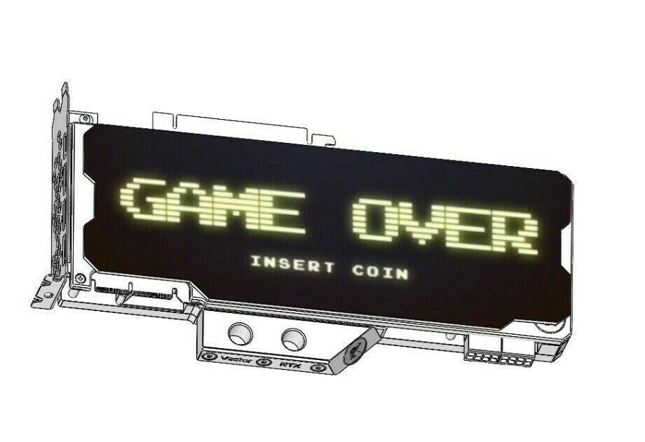 GAMEOVER- GPU Backplate All Cards GTX RTX AMD GEFORCE NVIDIA - FITS ANY GPU