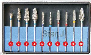 10pcs-HP-Tungsten-Carbide-Cutter-Kit-Dental-Burs-Lab-Tooth-Drill-Polisher