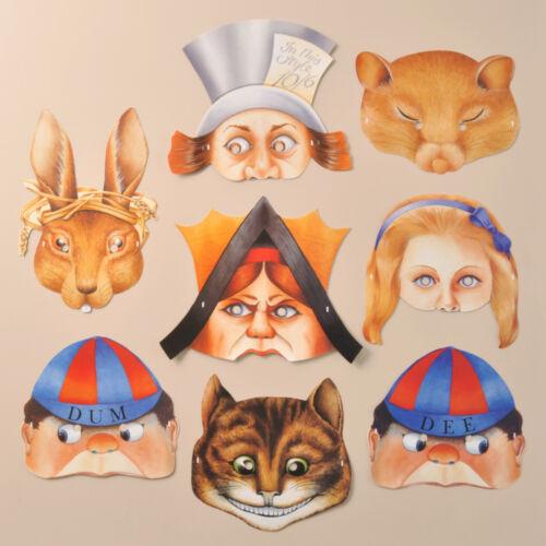 R457 Mamelok Alice in Wonderland Paper Masks