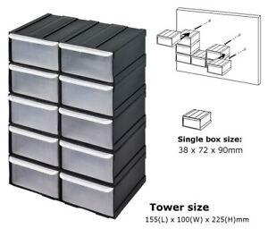 10-pcs-Plastic-Parts-Storage-Bins-Boxes-amp-Tool-Tidy-Kit-Shed-Garage-Workshop