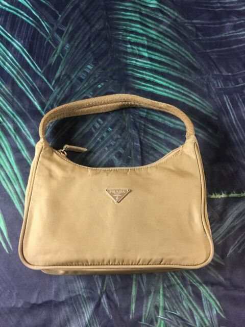39b96d0b3077 Authentic PRADA Tessuto Beige Designer Nylon Mini Shoulder Bag Made In Italy