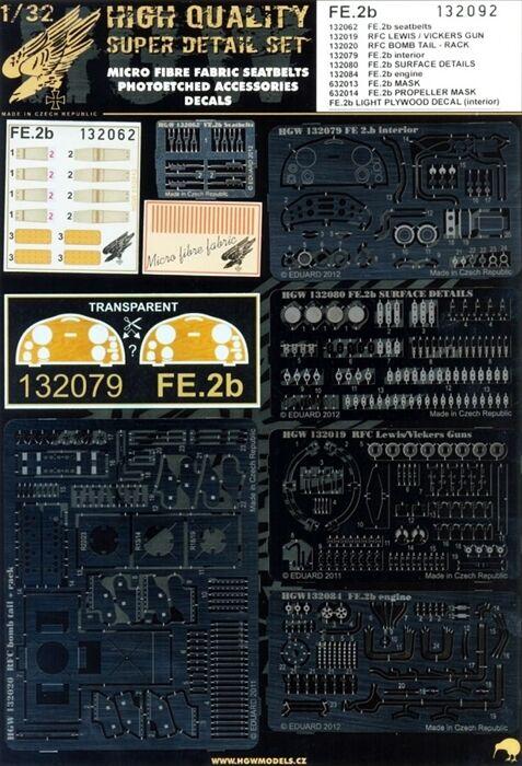132092 HGW SUPER Detail set - FE.2b 1 32