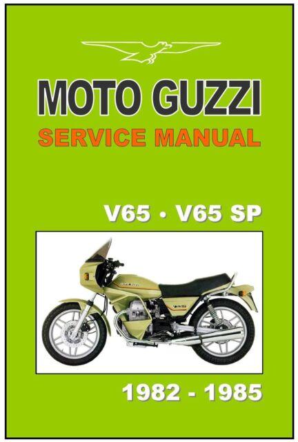 Moto Guzzi Workshop Manual V65  U0026 V65sp Sp 1982 1983 1984  U0026 1985 Factory Service