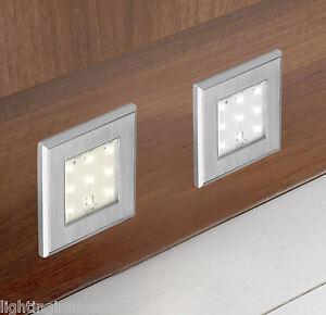 LED KITCHEN PLINTH LIGHT SQUARE SURFACE MOUNTED STAINLESS STEEL - Kitchen plinth lights square