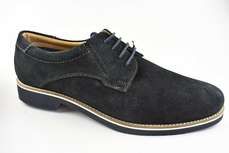 Bugatti Homme Chaussures Basses Dark bleu Cuir Derbies Taille 46