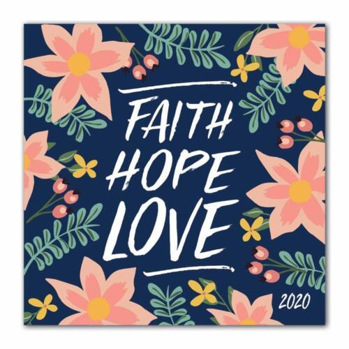 FAITH HOPE LOVE 587553 2020 WALL CALENDAR BRAND NEW
